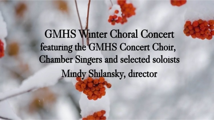 GMHS VIRTUAL WINTER CONCERT!